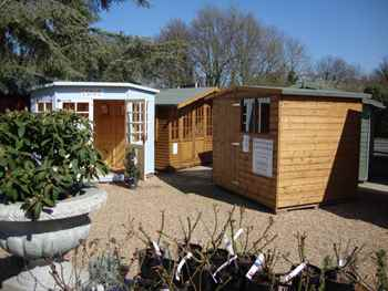 Garden Sheds Ripley show rooms - mb garden building