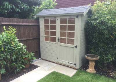 Abinger 6x5 with Grey Tiled Roof and Painted Finish