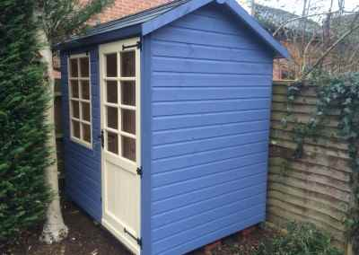 Abinger 8x6 with painted finish and grey tile roof,
