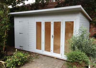 Ascot 14x7, &Gv Lined and Insulated, Shed Compartment, Shades Finish.