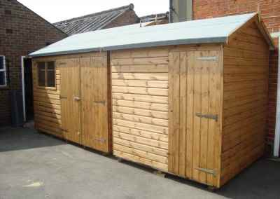 Deluxe Apex 10x9 with Double Doors and 7x7 Deluxe Apex with No Window