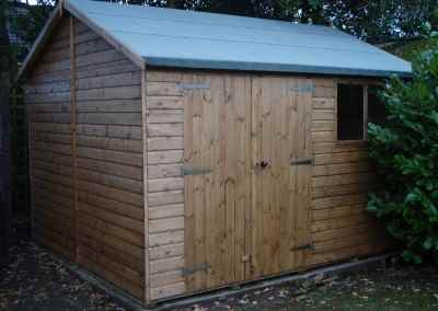 Deluxe Apex 12x10, Extra Height with Door and Windows under eaves