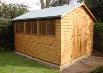 Deluxe Apex 12x10, Heavy Torch-On Roofing Felt, Guttering