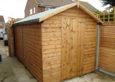 Deluxe Apex 14x7, No Windows and Guttering