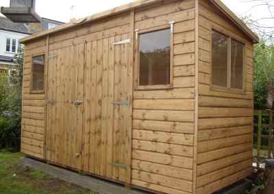 Deluxe Pent 12x5 with Double Doors