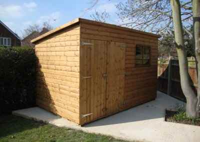 Deluxe Pent 12x7 with Double Doors