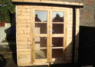 Deluxe Pent 7x5, Richmond Doors & Guttering
