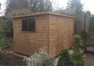 Deluxe Pent 8x12 with Reverse Roof Slope, Extra Door and Internal Partition Wall