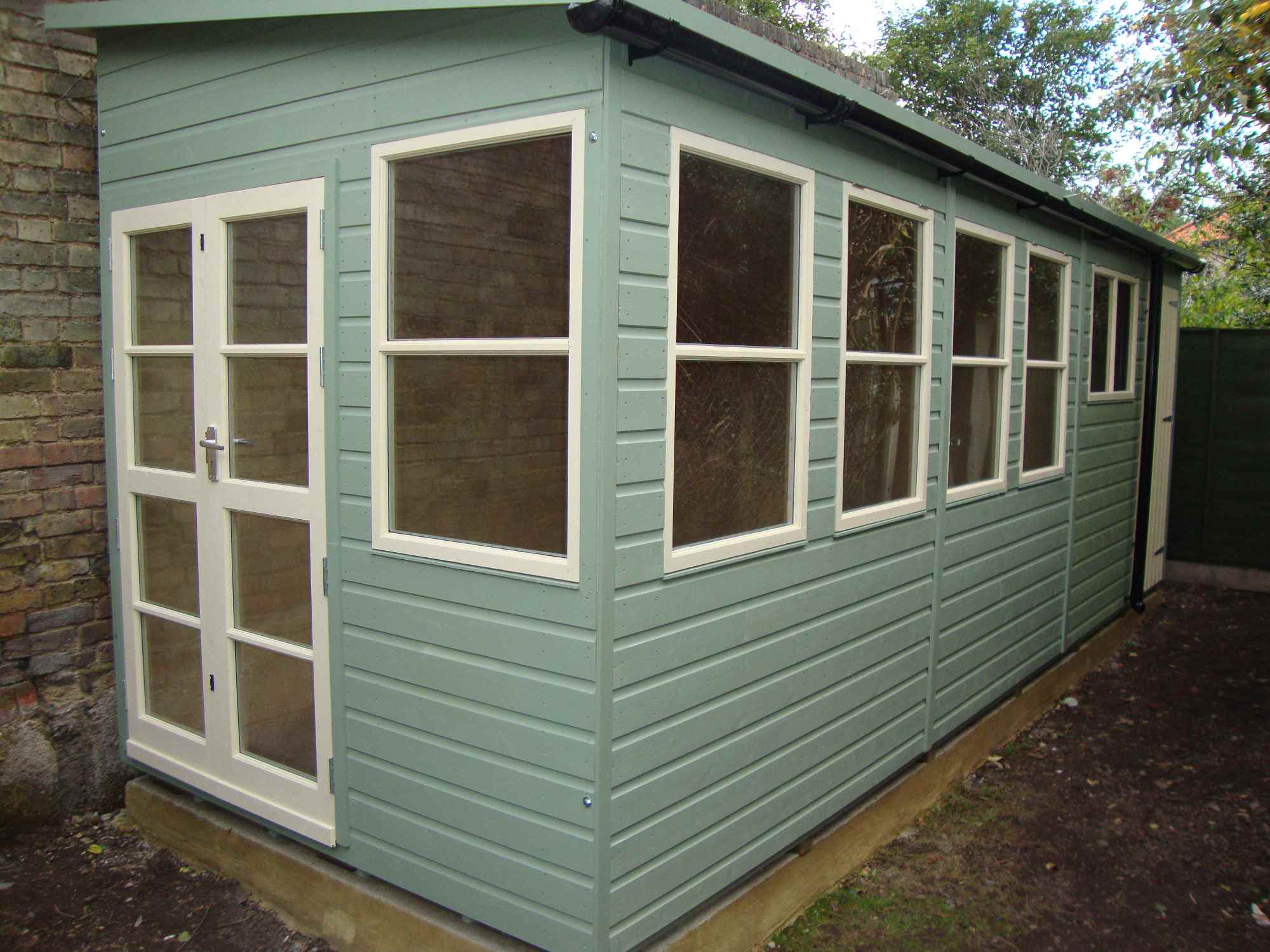1500 #5B4E38  Reverse Roof Slope Richmond Doors Sash Windows Partitioned Shed  image Shed Doors And Windows 41332000
