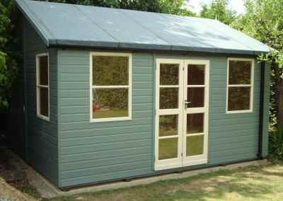 Deluxe Studio 14x12, Heavy Torch-On Felt, Guttering & Downpipes, Shades Finish