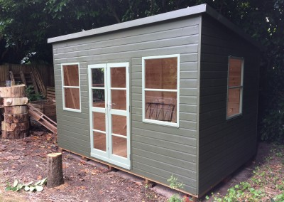 Deluxe Studio with Pent Roof Option and Painted Finish