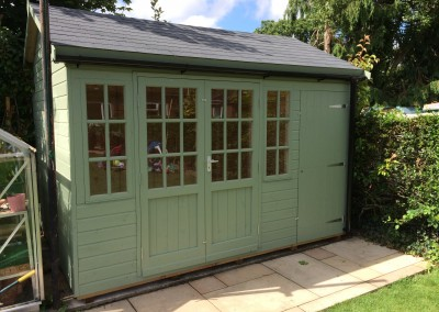 Deluxe Studio with Shed Compartment, Hampton Doors_Windows, Grey Tiled Roof, Guttering and Painted Finish