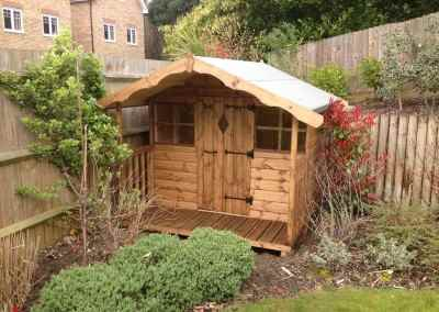 Hambledon Playhouse 6x4, Optional 2' Verandah. (2)