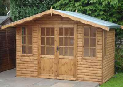 Hampton 10x6, Heavy Torch-On  Felt, Log-Lap Cladding.