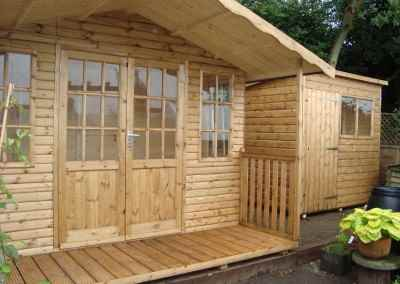 Hampton 10x8 with Verandah & 7x5 Deluxe Pent