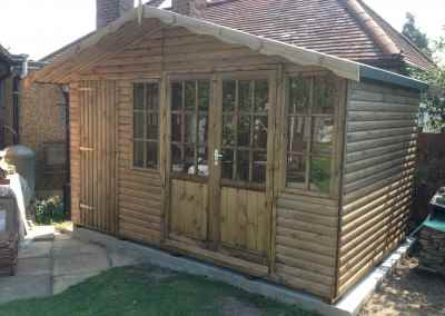 Hampton 12x8, Log-Lap Cladding, Shed Compartment. (2)
