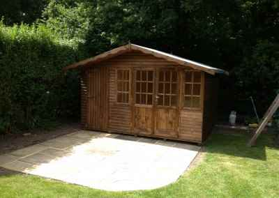 Hampton 12x8, Log-Lap Cladding, Shed Compartment.