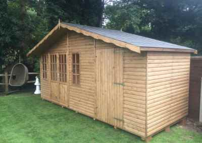 Hampton 17x6 with Seperate Shed Compartment and Tiled Roof.