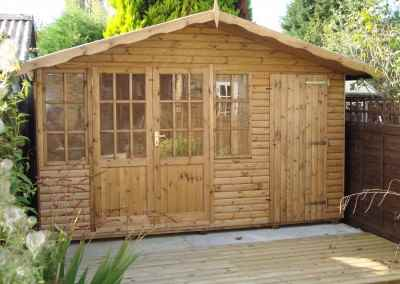 Hampton bespoke 12x8 Summerhouse with Partitioned Shed Area