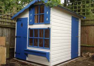 Milford Playhouse 6x8, Shed Compartment at Rear, Shades Finish.