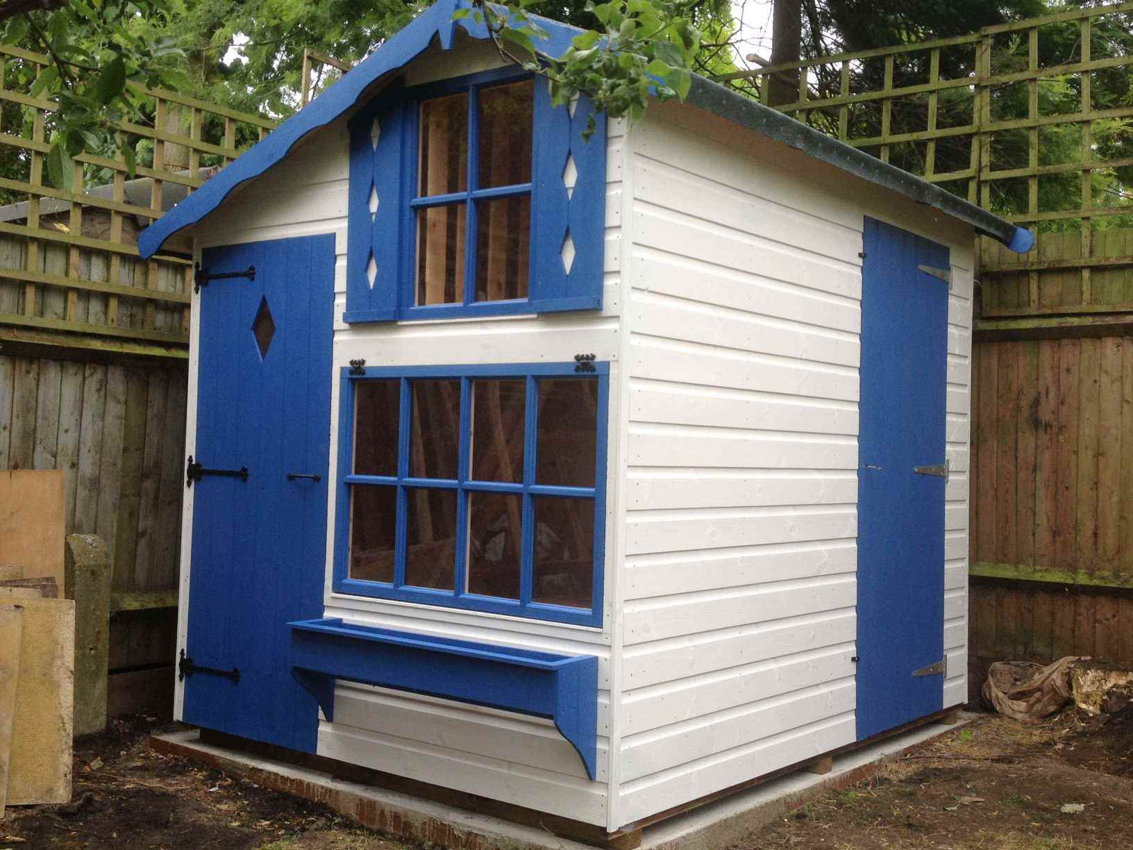 Combined playhouse shed mb garden building for Playhouse sheds