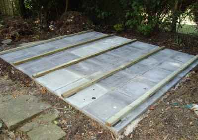 Paving Slab Base with Bearers