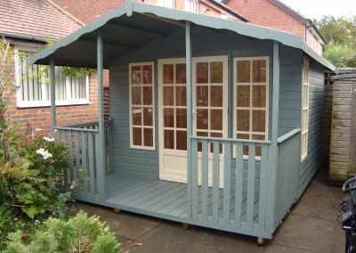 Petersham 12x8, 4' Verandah with Front Rails, Shades Finish. (3)