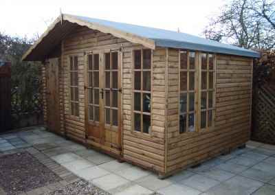 Petersham 16x10 bespoke combined Shed, Log-Lap Cladding, Heavy Torch-On Roofing Felt