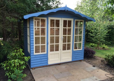 Petersham 8x6 with Log Lap Cladding and Painted Finish