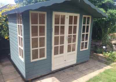 Petersham 9x6 with T&Gv Lining and Insulation and Painted Finish.