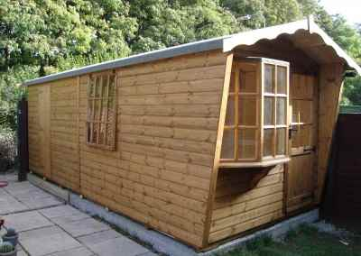Puttenham Bay Cabin Bespoke 7x18 with Partitioned rear Shed Compartment