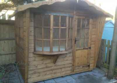 Puttenham Cabin 8x6, Extra Side Window, T&Gv Lined and Insulated.