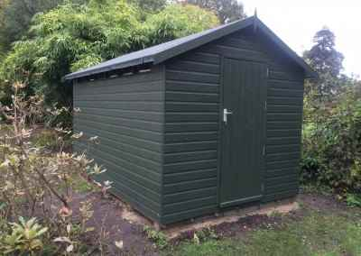 Security Shed 12x8, Heavy Torch-On Felt, Shades Finish.