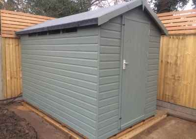 Security Shed 8x6 with Painted Finish