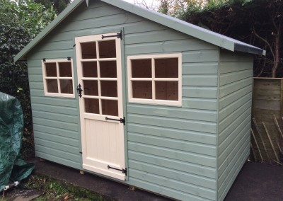 Special Apex 10x6 with Tilford Door, 4 Pane Windows and Painted Finish