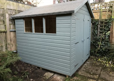 Super Apex 8x7 with Double Doors, 3 windows Only and Painted Finish