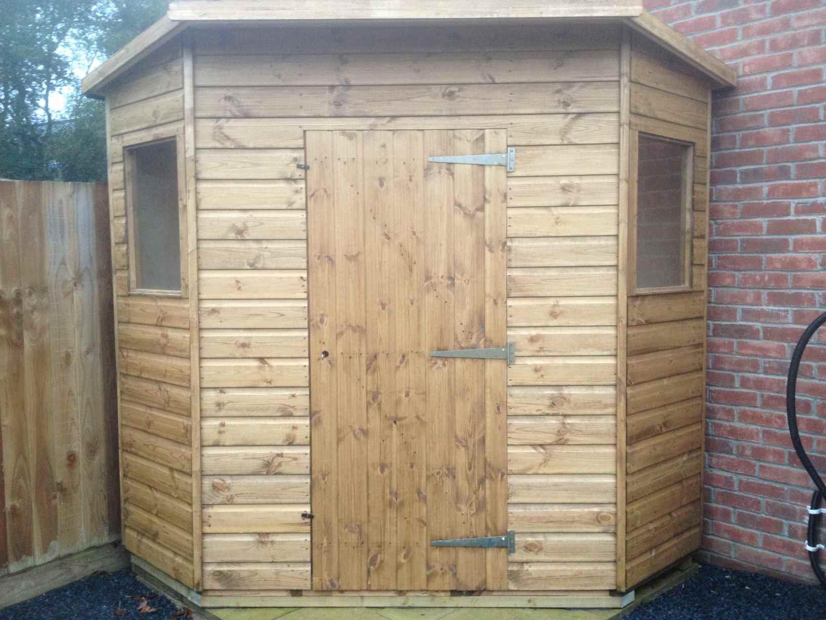 corner garden sheds 7x7 simple corner garden sheds 7x7 design large wooden summer house - Garden Sheds 7x7