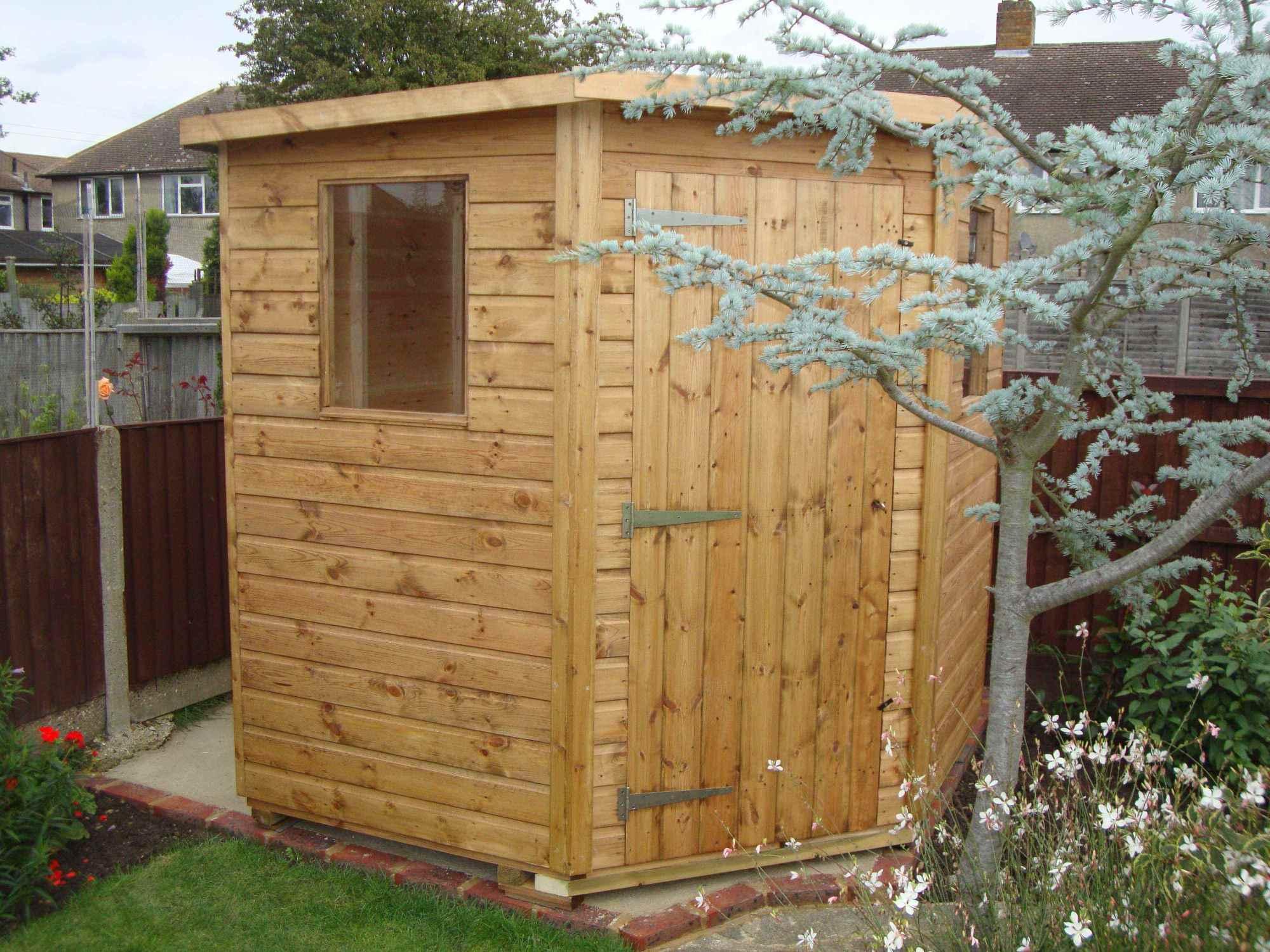 super pent 7x7 corner shed - Corner Garden Sheds 7x7