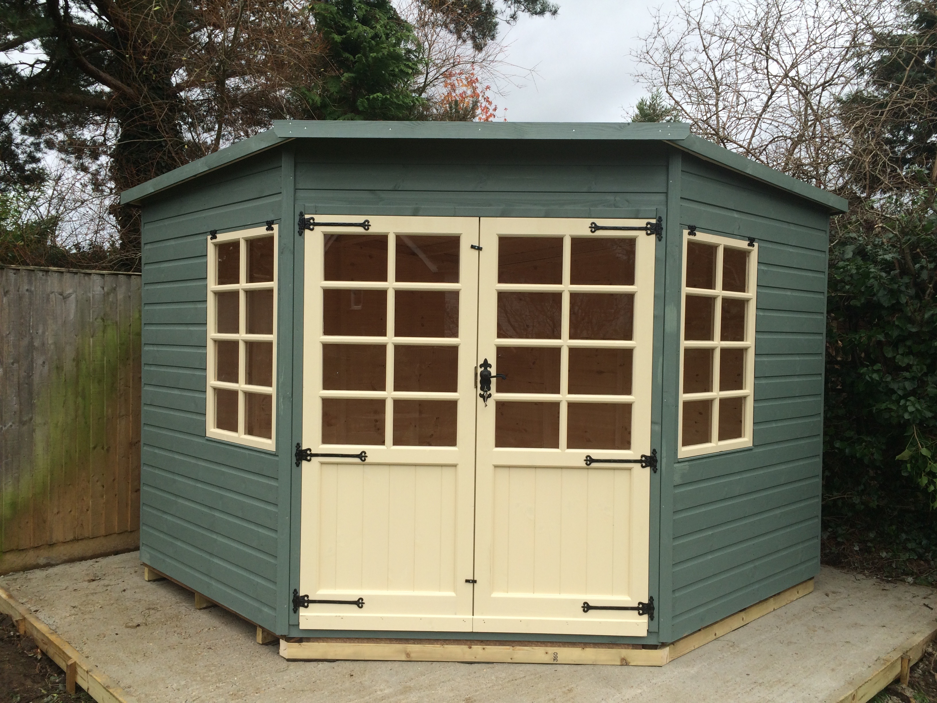 tanalised shire pent garden shiplap chalet x shed pressure treated eabf sheds corner