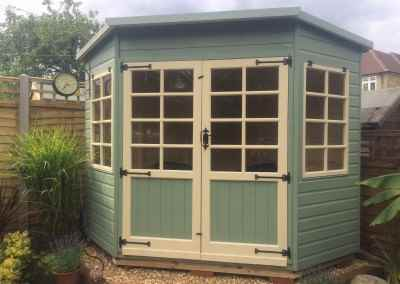 Tilford Corner House with Painted Finish 7x7.