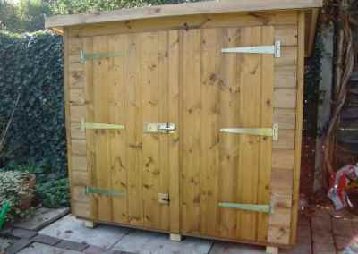 Tool Shed 4x2, Double Doors in High Side