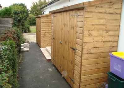 Tool Shed 7x3 2 of with Double Doors in Low Side