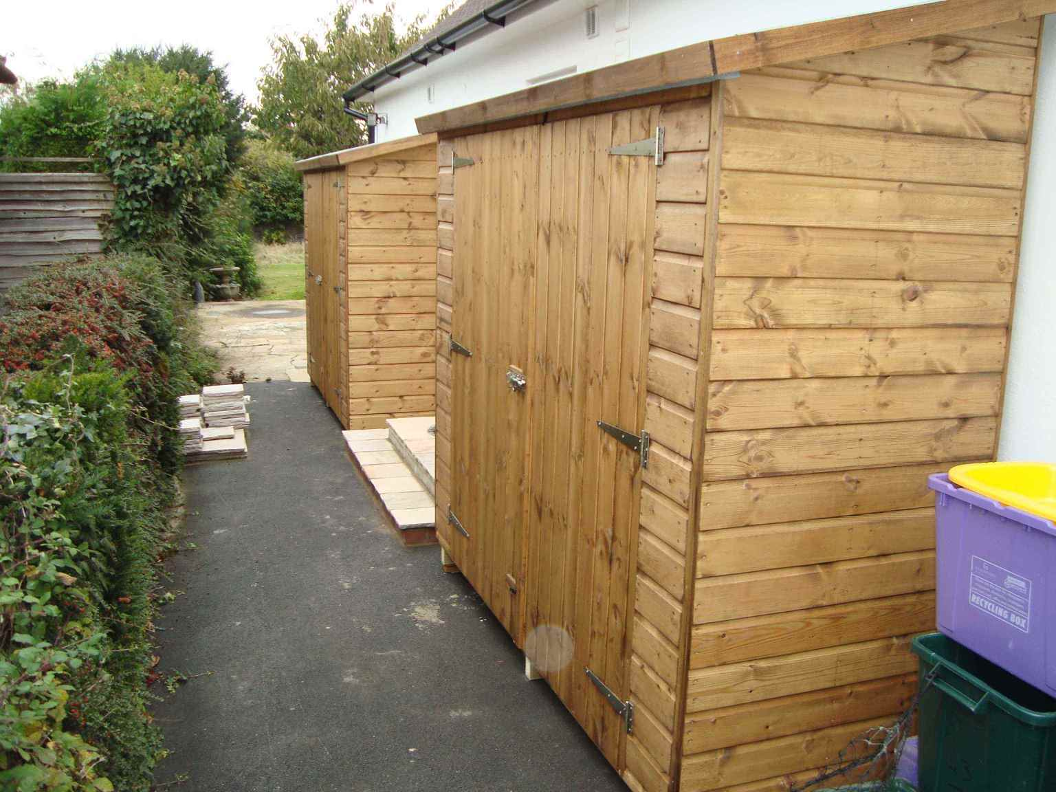 tool shed 7x3 2 of with double doors in low side - Garden Sheds 7 X 3