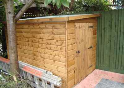 Tool Shed 8x5, single door in end, Rimlock and Handle
