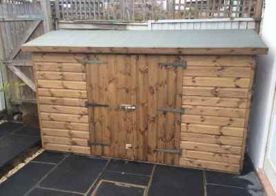 Tool Shed 9x3 with Double Doors