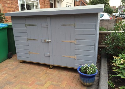 8x3 Tool Shed with Lower Height, Double Doors and Painted Finish