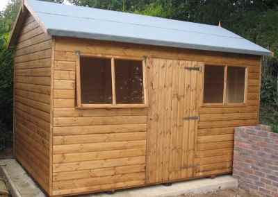 Deluxe Apex 12x9, Extra Height with Door and Windows under eaves