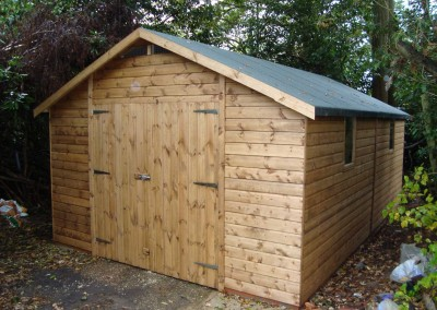 Deluxe Apex 19x11 Double Doors And Heavy Torch On Roofing Felt