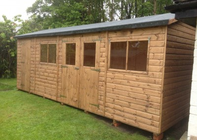 Deluxe Apex 22x10 With Windows In Double Doors Seperate Shed Compartment And Heavy Felt