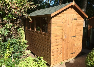 Deluxe Apex 9x6 with Extra Double Widow, 2'6_ Door and Green Felt Tiles